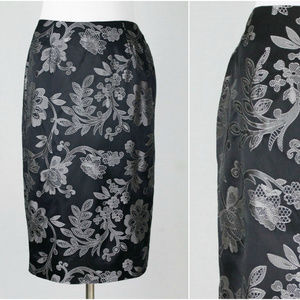 Vintage Lilly Pulitzer Brocade Pencil Skirt